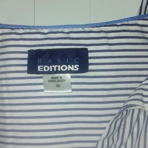 Basic Editions Tops - Stripes button down
